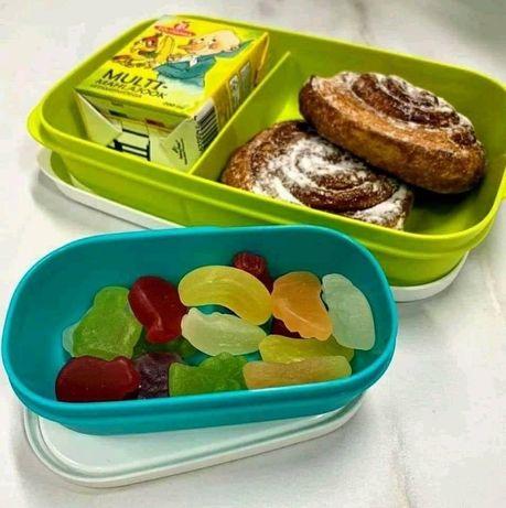Caixa Snack Divisórias + Caixa Sobremesa Tupperware