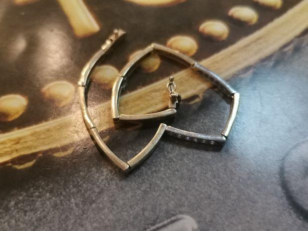 _K CIEKAWA złota bransoletka BICOLOR, złoto 585