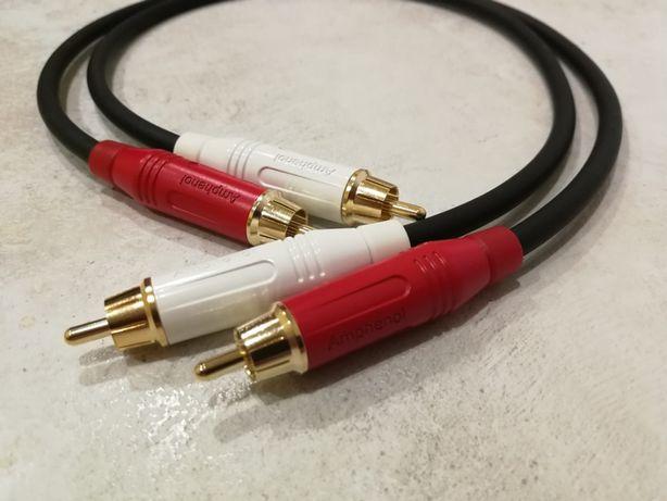 Kabel audio AMPHENOL interkonekt RCA Hifi Przewód cinch phono stereo