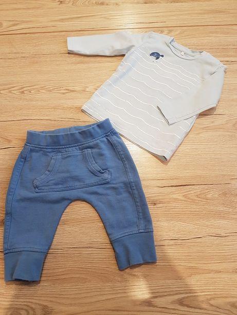 Komplet 62 68 paka spodnie bluza zestaw dla chłopczyka