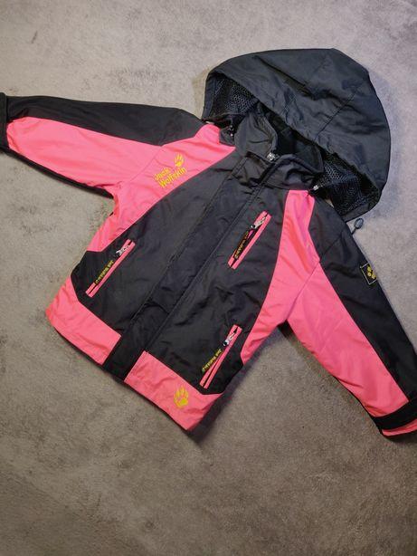 Куртка деми Jack Wolfskin 104.  Курточка с Флисовой кофтой для девочки