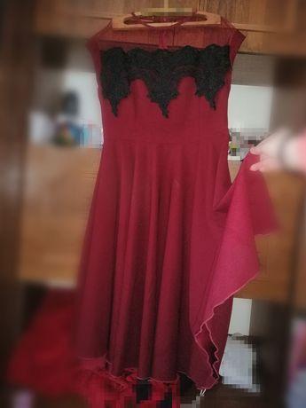 Бордове Жіноче плаття 52 розміру
