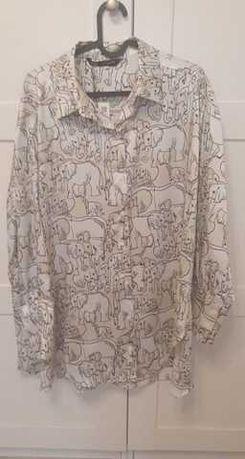 Koszula słonie ZARA długa oversize