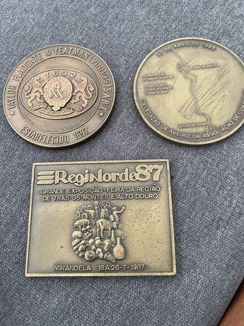 Medlhas bronze comemorativas