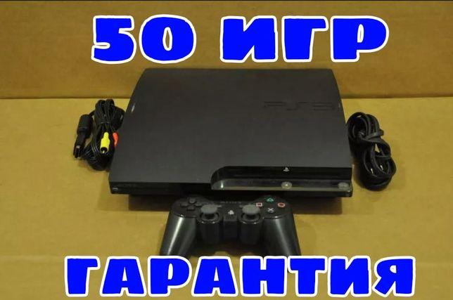 PS3 Slim 160GB + 10игр модель CECH3008A гарантия игры