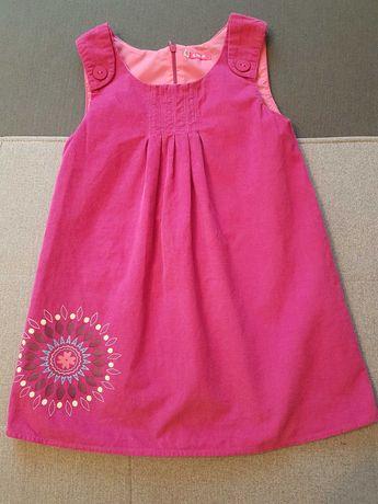 5-10-15 - Urocza sukienka - r. 116 - jak nowa!