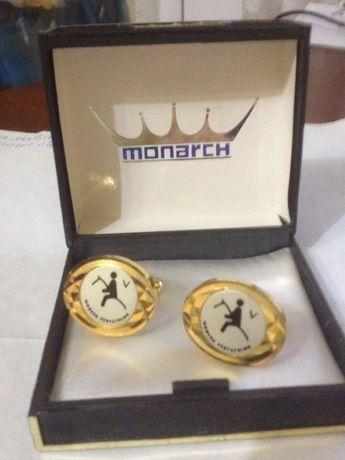 Позолоченные запонки Monarch