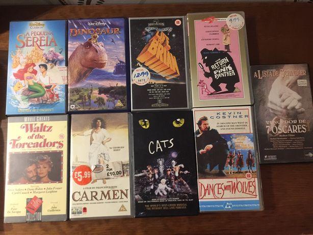 20 cassetes VHS varias