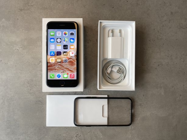 iPhone 7 128GB Matt Black. Магазинное состояние + Чехол (Не X,11,12,S,