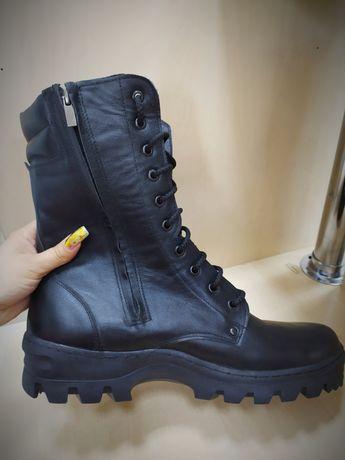 Берцы р.46-47 новые/молния/кожа (ботинки, сапоги)