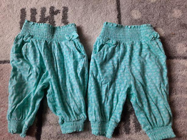 Letnie spodnie dla bliźniaczek roz 56