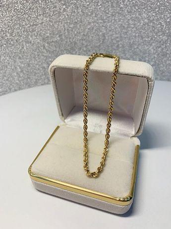585 Piękna bransoletka złota 20cm