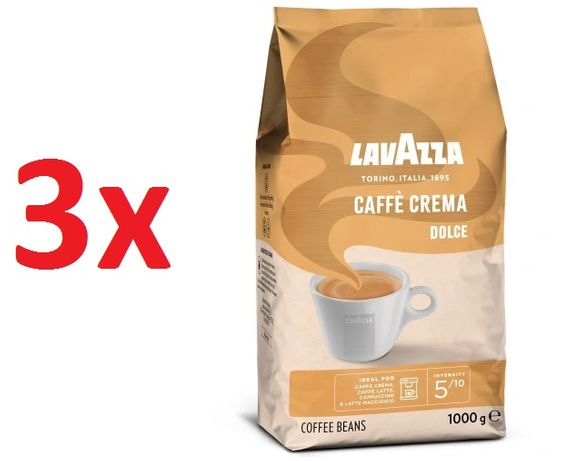 3szt Kawa ziarnista Lavazza Caffe Crema Dolce 1kg