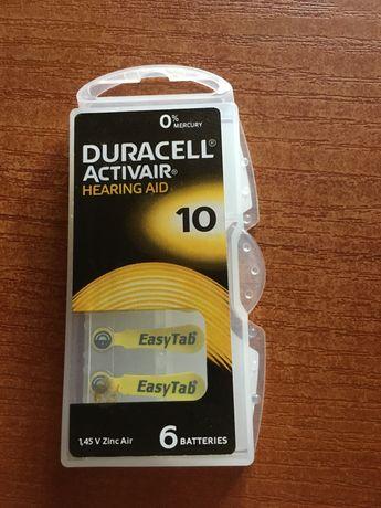 Bateria aparatu sluchowego duracell activair hearing aid 10
