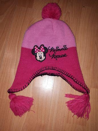 Disney czapka zimowa różowa myszka Minie 3-6 lat