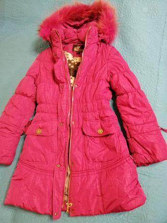 Новое зимнее пальто - пуховик для девочки рост 158