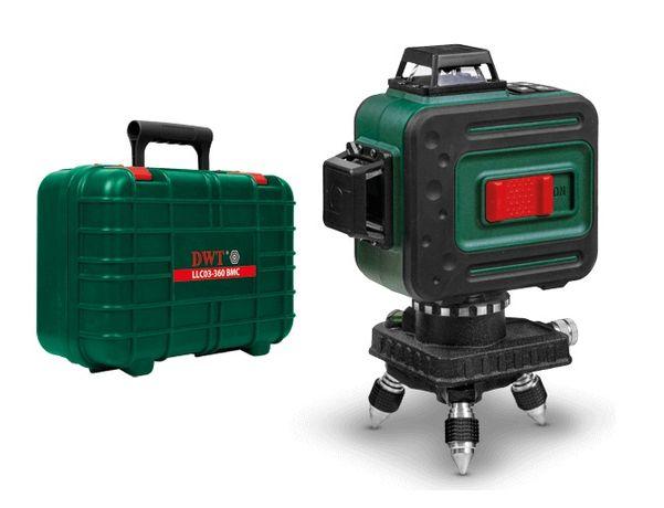Лазерный уровень DWT LLC03-360 с зелёными лучами 3D