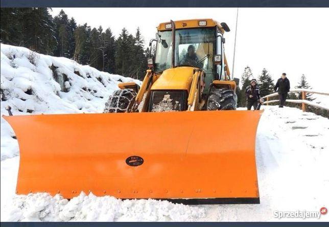 Odśnieżanie parkingów dróg  ła0dowarka koparka wywuz śniegu