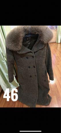 Зимнее пальто, размер 46, бу