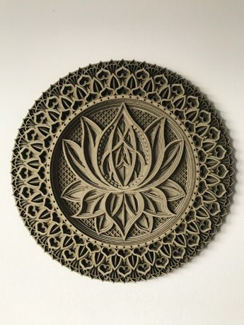 Mandala, prezent, upominek, dekoracja na ściane, ozdoba, 3D,panel,ażur
