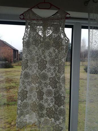Orsay nowa koronkowa biała sukienka rozm.40