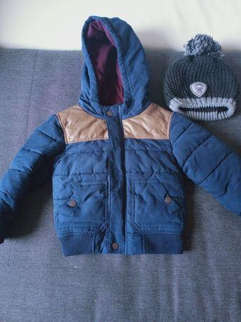 Zimowa kurteczka z czapką