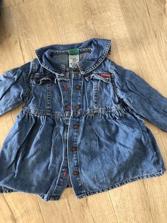 Sukienka jeansowa r80