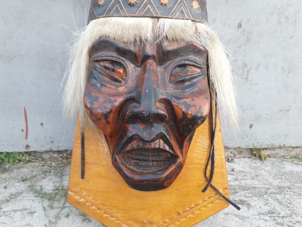 Маска Шамана Аку с рогами северного оленя