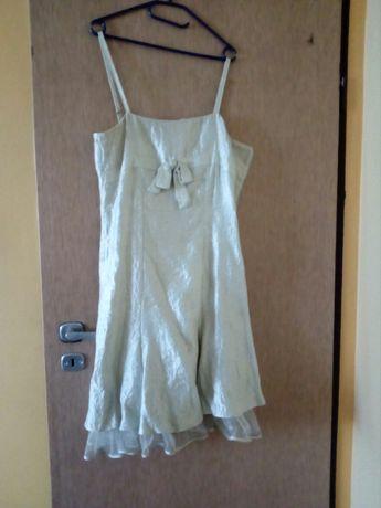 Sukienka elegancka 38-40 seledynowa