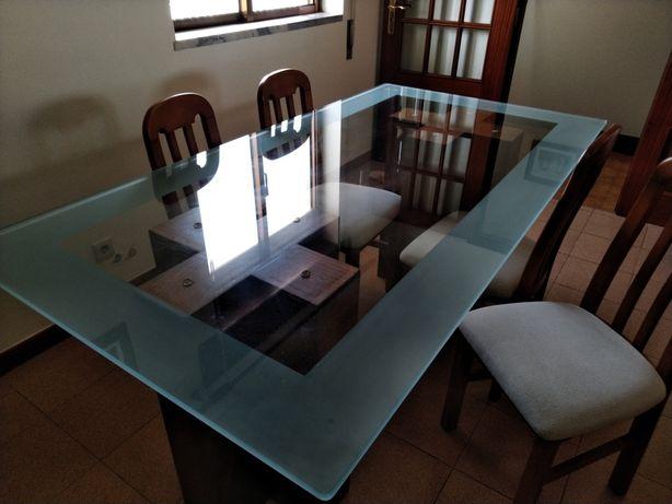 Mesa sala em vidro