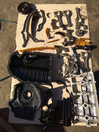 Двигатель 1.8 TSI CPR в разборе. Коленвал, распредвал, головка блока