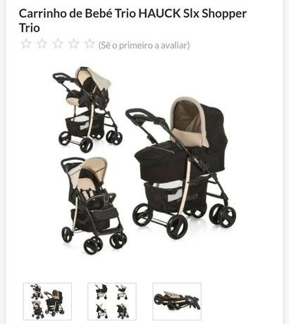Carrinho de Bebé Trio HAUCK Slx Shopper. NOVO