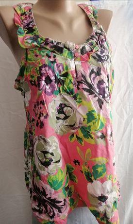 Кофточка летняя с рисунком цветов