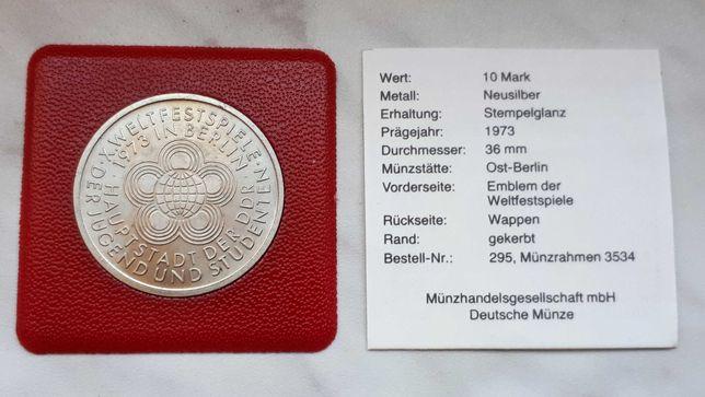 H63) NIEMCY DDR - 10 Marek - 1973 r. A