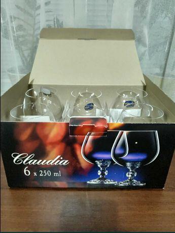 Набор бокалов для коньяка Bohemia Claudia 6 шт 250 мл новый