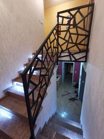 Barierka, balustrada wewnętrzna, loft, industrialna, nowoczesna