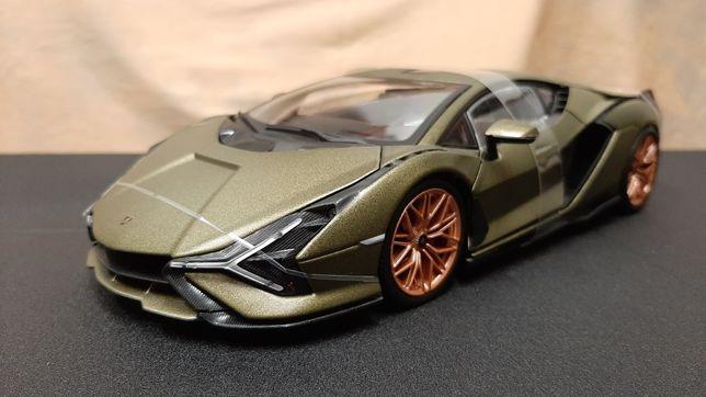 Miniatura Lamborghini Sián - escala 1/18 - Burago