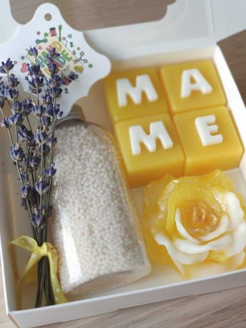 Набор мыла ручной работы для мамы на день матери или день рождения