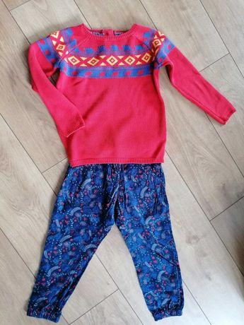 Komplet sweter spodnie 5-10-15 r.110
