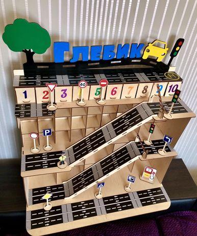 Парковка,паркінг,паркинг,гараж,трек,іграшка,игрушка,еко,машинка