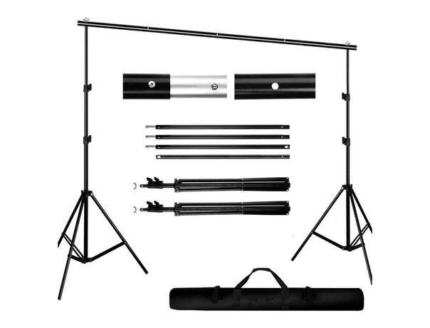 Estrutura para fundos fotografia / vídeo tripés + barras