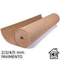 Rolo Cortiça Pavimento 2mm/3mm/4mm/5mm Isolamento