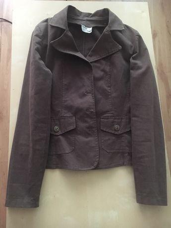Brązowy żakiet dżinsowy, kurtka dżinsowa rozm. 38 IDEALNY