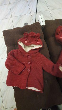 Светрик теплий, куртка вязаний 1 рік 80 см