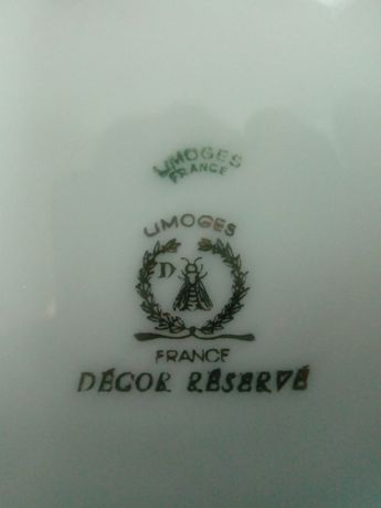 Prato decorativo porcelanas Limoges France