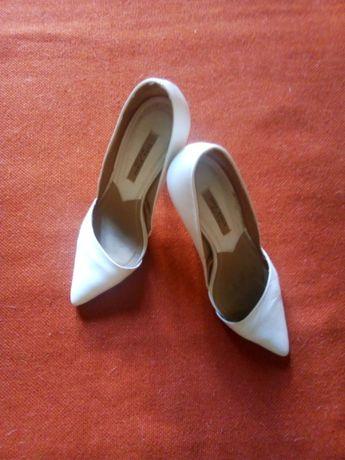 лодочки туфли Zara кожа