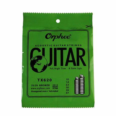 struny do gitary akustycznej, metalowe cena za komplet 6 sztuk zestaw