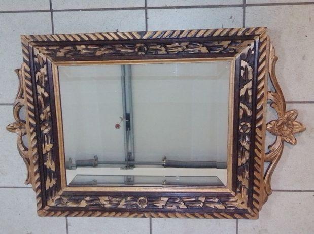 Quadro com espelho com talha muito antigo e em perfeitas condições (ma