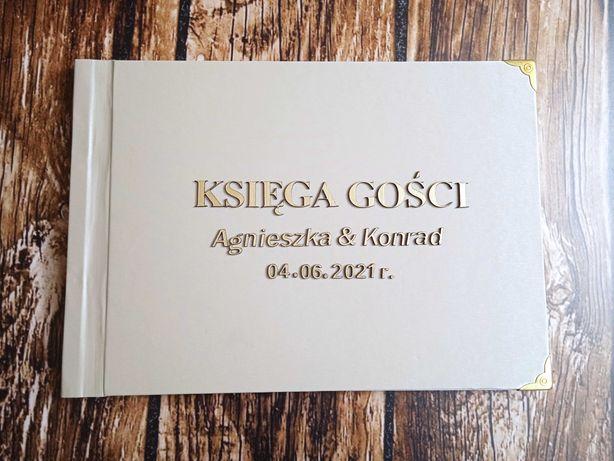 Księga gości ślub wesele para młoda grawer personalizowana Ciechanów