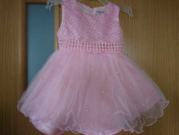 sukienka rozowa wiek 18 msc